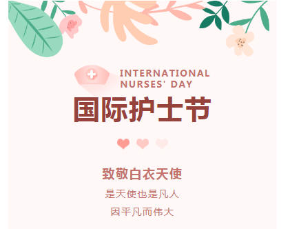 国际护士节简约粉色模板